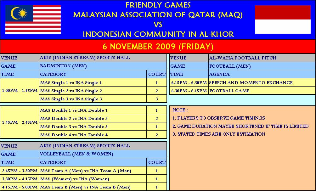 FRIENDLY GAMES - MAQ VS INDONESIAN COMMUNITY (AL-KHOR) - 6 NOV 2009 (FRIDAY) 20091106_GAMES%20SCHEDULE